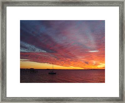 Sunset At Cafe Coconut Cove 6 Framed Print