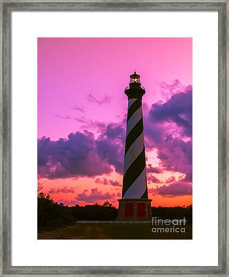 Sunset At Cape Hatteras Vertical  Framed Print by Nick Zelinsky