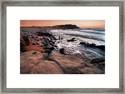 Framed Print featuring the photograph Sunset At Capo Pecora - Sardinia by Laura Melis