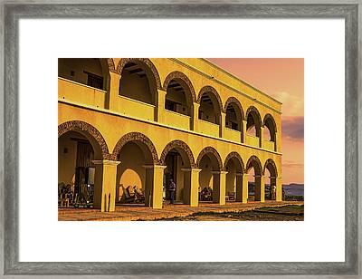 Framed Print featuring the photograph Sunset At Castillo De Salgar by Rob Tullis