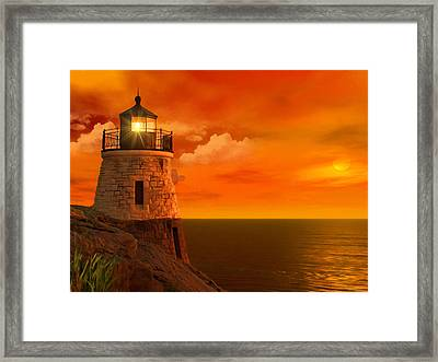 Sunset At Castle Hill Framed Print by Lourry Legarde