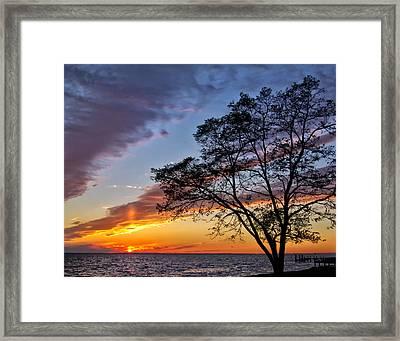 Sunset At Chesapeake Beach Framed Print