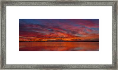 Sunset At Cheyenne Bottoms 1 Framed Print