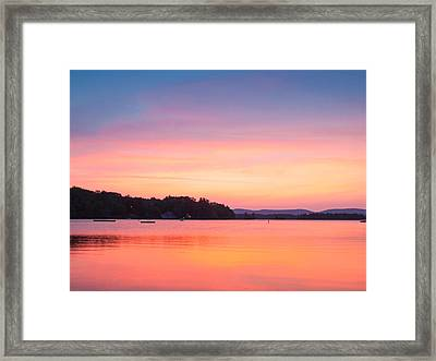 Sunset At Chickawaukee Lake II Framed Print by Ernest Puglisi