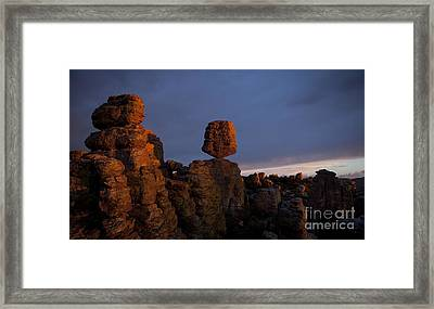Framed Print featuring the photograph Sunset At Chiricahua by Keith Kapple