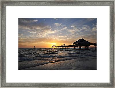 Sunset At Clearwater Framed Print by Bill Cannon