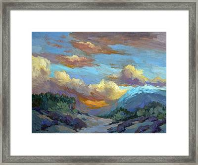 Sunset At Coachella Valley Framed Print by Diane McClary