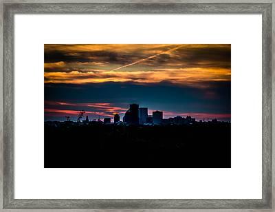 Sunset At Cobb's Hill Framed Print by Sara Frank