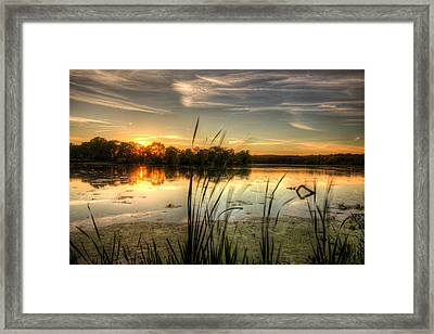 Sunset At Cootes Bay Framed Print by Craig Brown