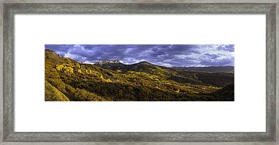 Framed Print featuring the photograph Sunset At Courthouse Mountain by Kristal Kraft