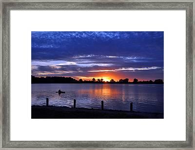 Sunset At Creve Coeur Park Framed Print