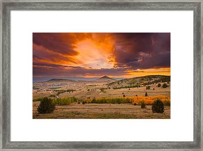 Sunset At Cripple Creek Overlook Framed Print