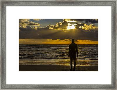 Sunset At Crosby Framed Print by Paul Madden