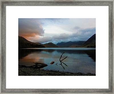 Sunset At Crummock Water Framed Print by Chris Whittle