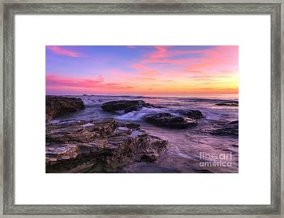 Sunset At Crystal Cove Framed Print by Eddie Yerkish