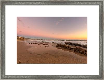 Sunset At Crystal Cove Hdr Framed Print by Angela A Stanton