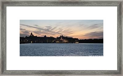 Sunset At Disney Framed Print