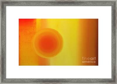 Sunset At Dusk Abstract Framed Print