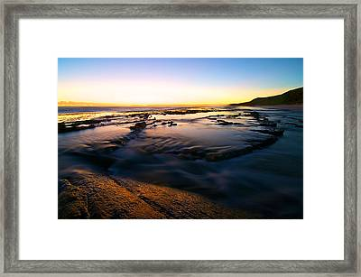 Sunset At Eleven Mile Framed Print by Sally Nevin