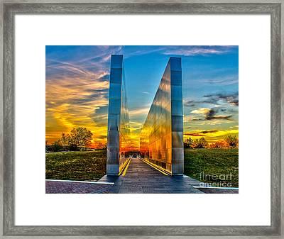 Sunset At Empty Skies Framed Print by Nick Zelinsky