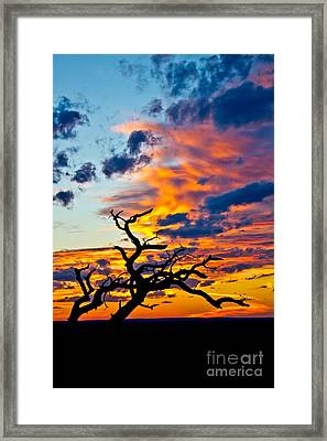 Sunset At Enchanted Rock Framed Print