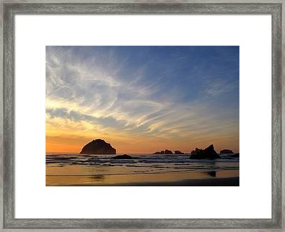 Sunset At Face Rock Framed Print