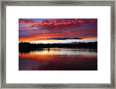 Sunset At Farewell Bend Park Framed Print by Engin Tokaj