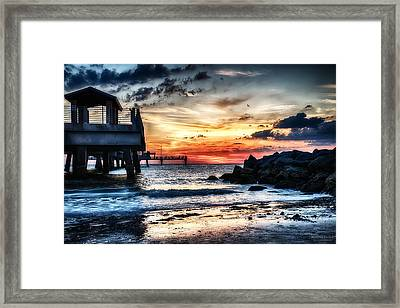 Sunset At Fort Desoto 2 Framed Print by Michael White