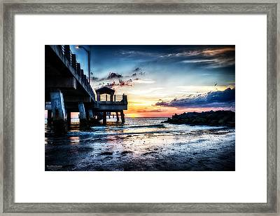 Sunset At Fort Desoto 3 Framed Print by Michael White
