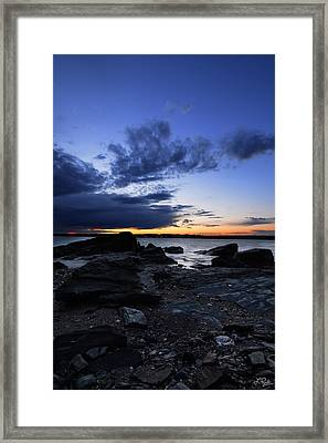 Sunset At Fort Getty Framed Print by Lourry Legarde