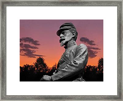 Sunset At Gettysburg  Framed Print