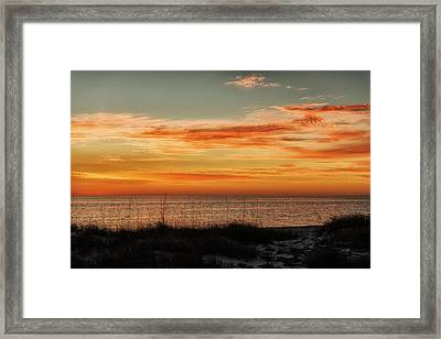 Sunset At Golden Beach Framed Print