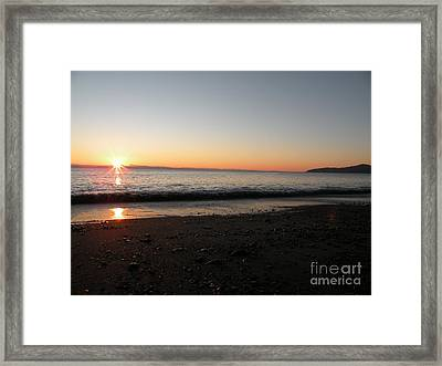 Sunset At Gordons Beach Framed Print by Val Carosella