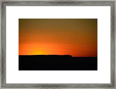 Sunset At Grand Canyon Framed Print