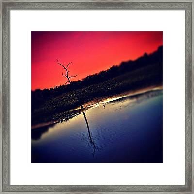 Sunset At Green Cay #sunset #greencay Framed Print