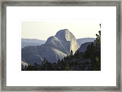 Sunset At Half Dome From Olmsted Pt Framed Print
