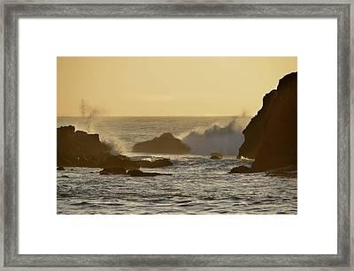 Sunset At Half Moon Bay Framed Print by Alex King