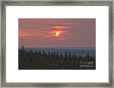 Sunset At Horseshoe Canyon, Cypress Framed Print by Alan Dyer