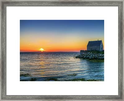 Sunset At Indian Harbour Framed Print