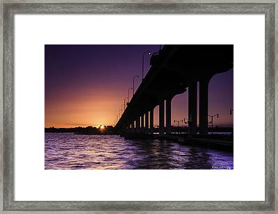 Sunset At Jensen Beach Framed Print