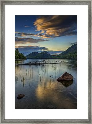 Sunset At Jordan Pond Framed Print by Rick Berk