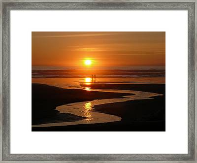 Sunset At Kalaloch Framed Print