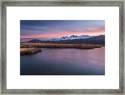 Sunset At Klondike Lake Framed Print by Cat Connor