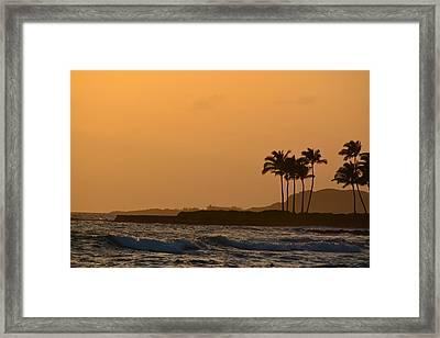 Sunset At Koloa Framed Print