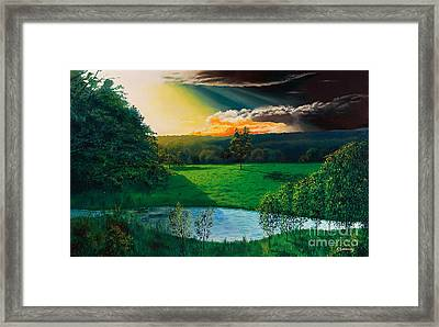 Sunset At L Hermitiere Framed Print by Christian Simonian