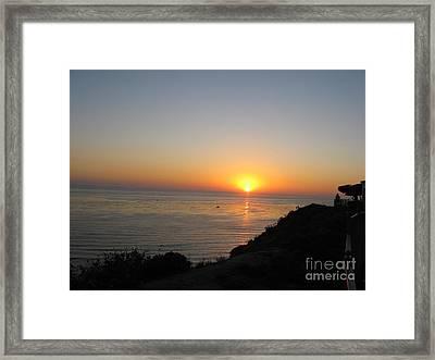 Sunset At Laguna Niguel California Framed Print