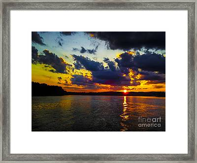 Sunset At Lake Logan Martin Framed Print