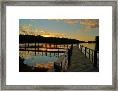 Framed Print featuring the photograph Sunset At Lake Mcintosh by Chris Fraser