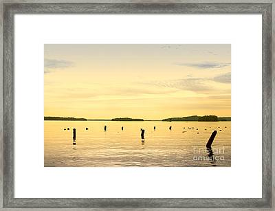 Framed Print featuring the photograph Sunset At Lake Muskoka by Les Palenik