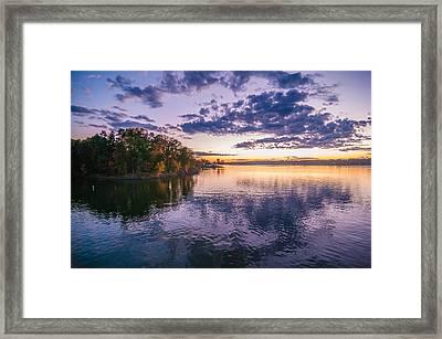Sunset At Lake Wylie Framed Print by Alex Grichenko